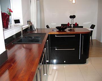 Kitchens Case Study Ultra Modern Gloss Iroko And